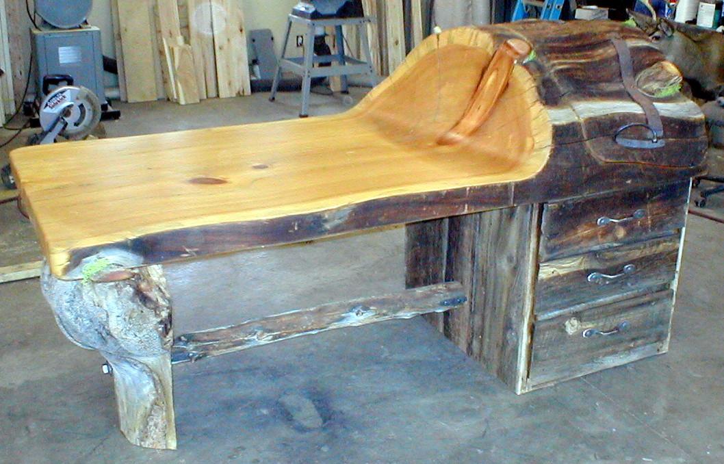 log desk longstory studio rh longstorystudio com Rustic Log Furniture Rustic Log Furniture