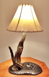 Lamp-Rawhide Shade
